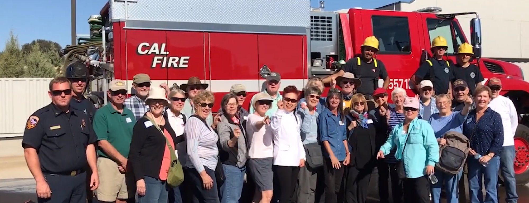 OLLI members on a field trip to Cal Fire