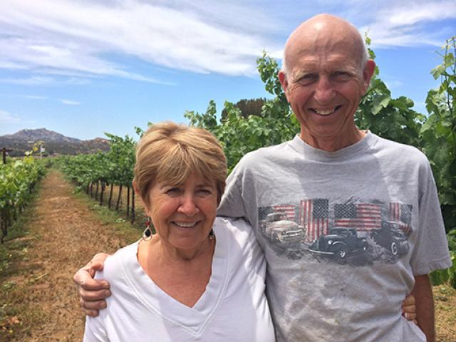 Richard and wife in vineyard