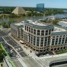 aerial view of One Capitol Mall in Sacramento, CA